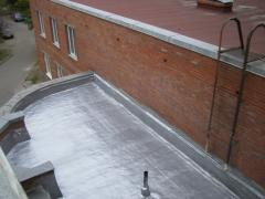 Aluminum waterproofing of roofs