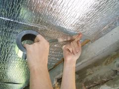 Installation of aluminum insulation