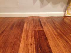 Swelling and deformation of eco-friendly bamboo floor