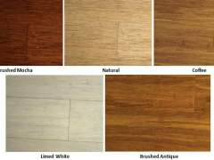 Popular colors of bamboo floor
