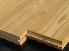 Grooved floor Board of wood