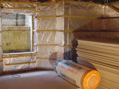 how to install insulation in basement