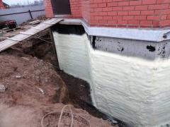 Exterior insulation of basement walls