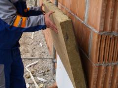 Basement insulation using mineral wool