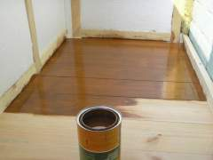 Special treatment of the wooden floor