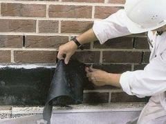 Waterproofing of masonry rolled materials