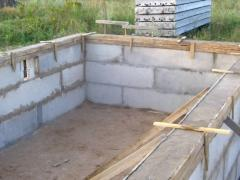 Strip Foundation cinder blocks