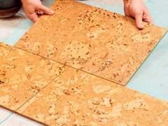 Easy to install cork floor
