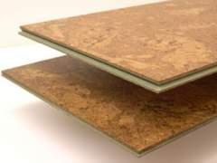 Modern cork floor panels