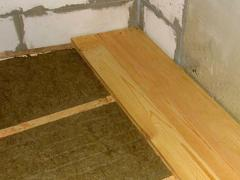 Use mineral wool as insulation