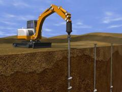 Screw piles foundation