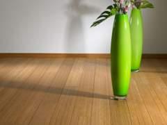 Floor made of natural bamboo