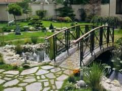 Garden bridge stone