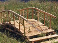 A bridge made of bamboo homemade