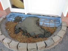 How to make a porch out of concrete