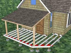 How to build a small front porch