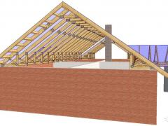 The design of a simple gable roof