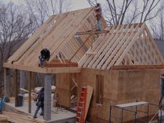 Proper installation of a gable roof of a private house