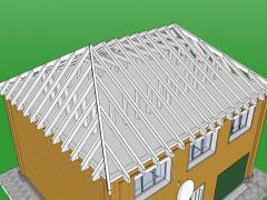 The gambrel model roof