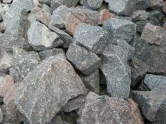 Granite stones used for the construction of walls