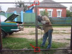 How to build a gate frame