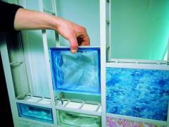 Frame made of PVC for glass blocks