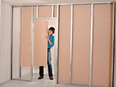 How to build a partition wall with a door