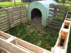 How to build a pig pen out of pallets
