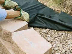 How to build a retaining wall on a slope