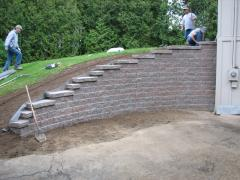 The construction of retaining walls