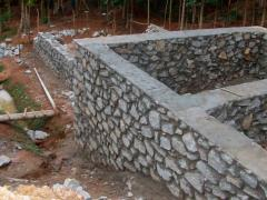 Stone wall and Foundation