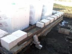 Align the stone blocks