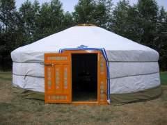 Classic Yurt is assembled