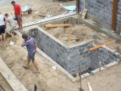 The construction of the Foundation with an inspection pit