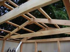 Truss roof construction