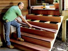 How to build wooden stairs