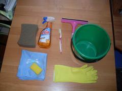 Set for washing Windows from aluminium profile