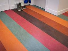 Marmoleum after cleaning