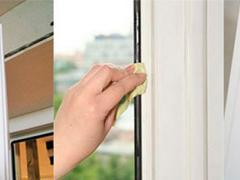 Treatment hard to reach places PVC Windows