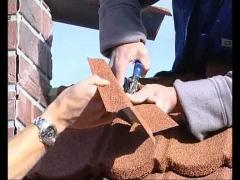 Cut the shingles using hand tools