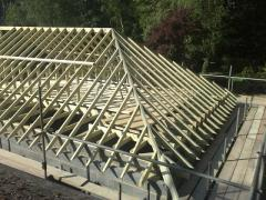 Frame hipped roof