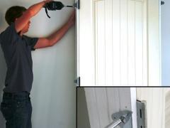 Installation of door hinges