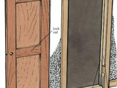 How to hang an interior door