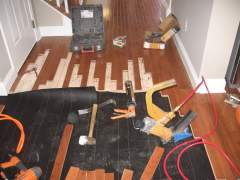 The process of installing engineered flooring