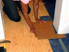 Install floating laminate flooring