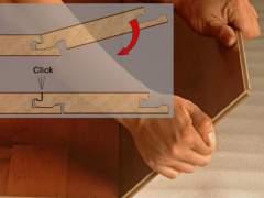 Correct technology of laying laminate flooring