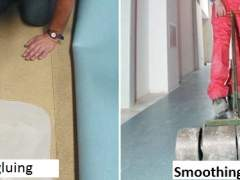 Technology of installation of linoleum