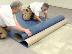 How to install marmoleum