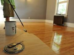 How to cover parquet lacquer