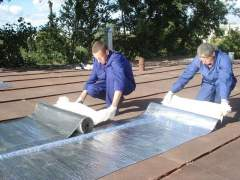 Proper installation of roll roofing to the roof